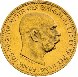 Moneta > 20corone, 1909-1915 - Austria  - obverse