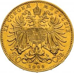 Moneta > 20corone, 1909-1915 - Austria  - reverse