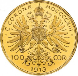 Moneta > 100kronų, 1909-1915 - Austrija  - reverse