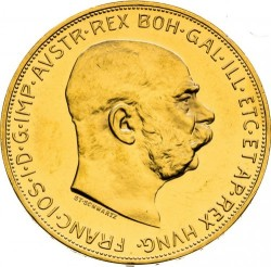 Moneta > 100corone, 1909-1915 - Austria  - obverse