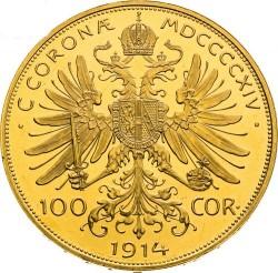 Moneta > 100corone, 1909-1915 - Austria  - reverse