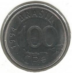 Monēta > 100kruzeiroreālu, 1993-1994 - Brazīlija  - reverse