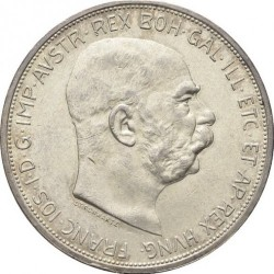 Монета > 5крони, 1909 - Австрия  (Inscription around the circle) - obverse