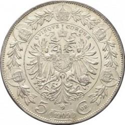 Монета > 5крони, 1909 - Австрия  (Inscription around the circle) - reverse