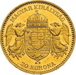 Moneda > 20korona, 1892-1915 - Hongria  - reverse