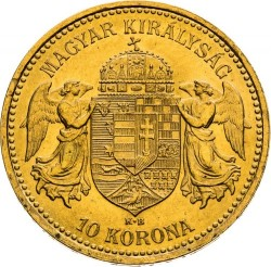 Moneda > 10korona, 1892-1915 - Hongria  - reverse