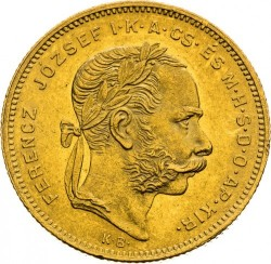 Münze > 8Forint, 1870-1880 - Ungarn  - obverse