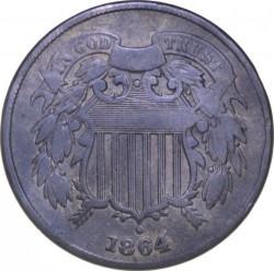 Монета > 2цента, 1864-1873 - США  (Union Shield) - obverse