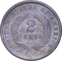 Монета > 2цента, 1864-1873 - США  (Union Shield) - reverse