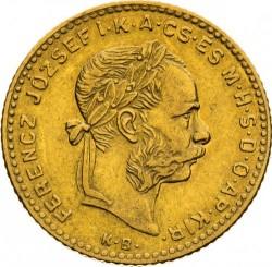 Moeda > 4forinte, 1890-1892 - Hungria  - obverse