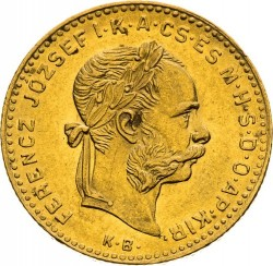 Moeda > 4forinte, 1880-1890 - Hungria  - obverse