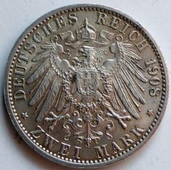 Moneda > 2marcos, 1908 - Alemán (Imperio)  (350º Aniversario - Universidad de Jena) - reverse