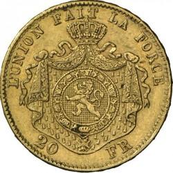 Monedă > 20franci, 1870-1882 - Belgia  - reverse