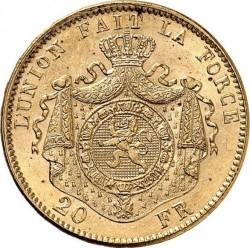 Minca > 20francs, 1874 - Belgicko  - reverse
