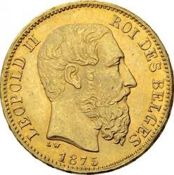 Moneda > 20francos, 1870-1882 - Bélgica  - obverse