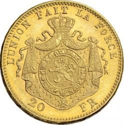 Moneda > 20francos, 1870-1882 - Bélgica  - reverse