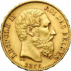 Minca > 20francs, 1876 - Belgicko  - obverse