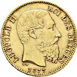 Munt > 20francs, 1870-1882 - Belgie  - obverse