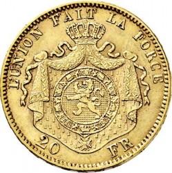 Munt > 20francs, 1870-1882 - Belgie  - reverse