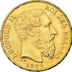 Minca > 20francs, 1882 - Belgicko  - obverse