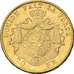 Minca > 20francs, 1882 - Belgicko  - reverse