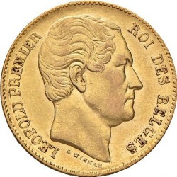 Minca > 20francs, 1865 - Belgicko  - obverse