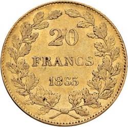 Minca > 20francs, 1865 - Belgicko  - reverse