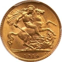 Minca > 1pound(sovereign), 1914 - Veľká Británia  - reverse