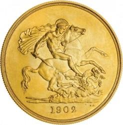 Кованица > 5фунти, 1902 - Уједињено Краљевство  - reverse