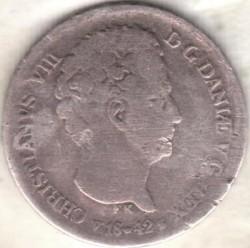 Кованица > 4ригсбанкскилинга, 1841-1842 - Данска  - obverse