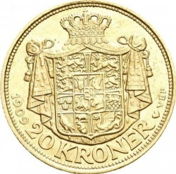Monedă > 20coroane, 1908-1912 - Danemarca  - reverse
