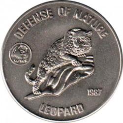 Moneta > 50afgani, 1987 - Afganistan  (Światowy Fundusz na Rzecz Ochrony Zwierząt - Leopard ) - reverse
