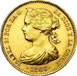 錢幣 > 10埃斯庫多, 1865-1868 - 西班牙  - obverse
