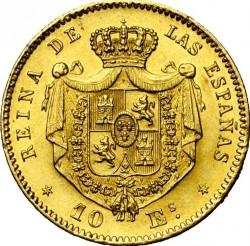 錢幣 > 10埃斯庫多, 1865-1868 - 西班牙  - reverse
