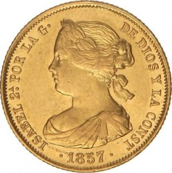 سکه > 100رئال, 1856-1862 - اسپانیا  - obverse