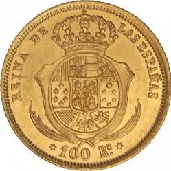 سکه > 100رئال, 1856-1862 - اسپانیا  - reverse