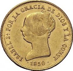 سکه > 100رئال, 1850-1851 - اسپانیا  - obverse