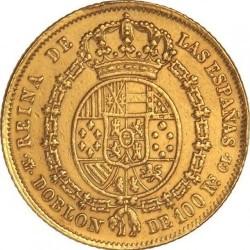 سکه > 100رئال, 1850-1851 - اسپانیا  - reverse