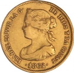 سکه > 20رئال, 1861-1863 - اسپانیا  - obverse