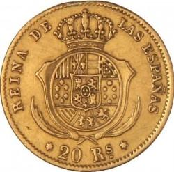 سکه > 20رئال, 1861-1863 - اسپانیا  - reverse