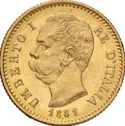 Moneta > 20lirų, 1879-1897 - Italija  - obverse