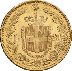 Moneta > 20lirų, 1879-1897 - Italija  - reverse