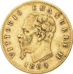 Moneta > 5liros, 1863-1865 - Italija  - obverse