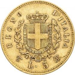 Moneta > 5liros, 1863-1865 - Italija  - reverse