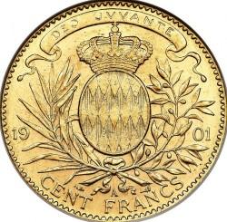 Кованица > 100франака, 1891-1904 - Монако  - reverse