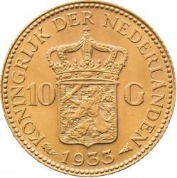 Coin > 10gulden, 1925-1933 - Netherlands - reverse
