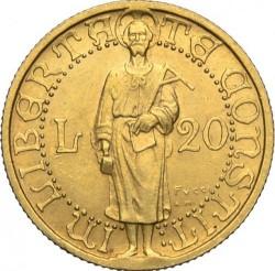 מטבע > 20לירות, 1925 - סן-מרינו  - reverse