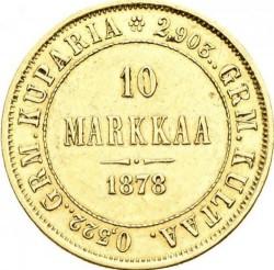 Coin > 10markkaa, 1878-1913 - Finland  - reverse