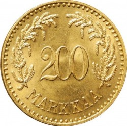 Moneta > 200markių, 1926 - Suomija  - reverse