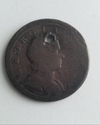Moneda > ½penique, 1719-1724 - Reino Unido  - obverse